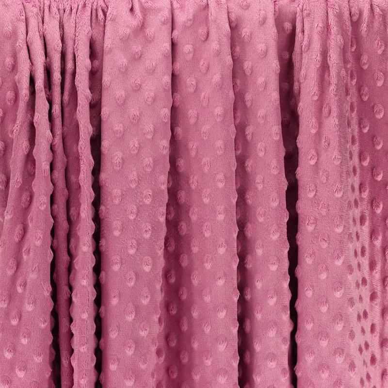 """Tissus Minky à pois """"Dolce - Vieux Rose"""" © Eyrelles Tissus"""