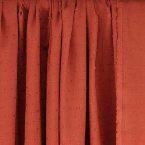 """Tissus Viscose """"Plumetis - Brique"""" © Eyrelles Tissus"""