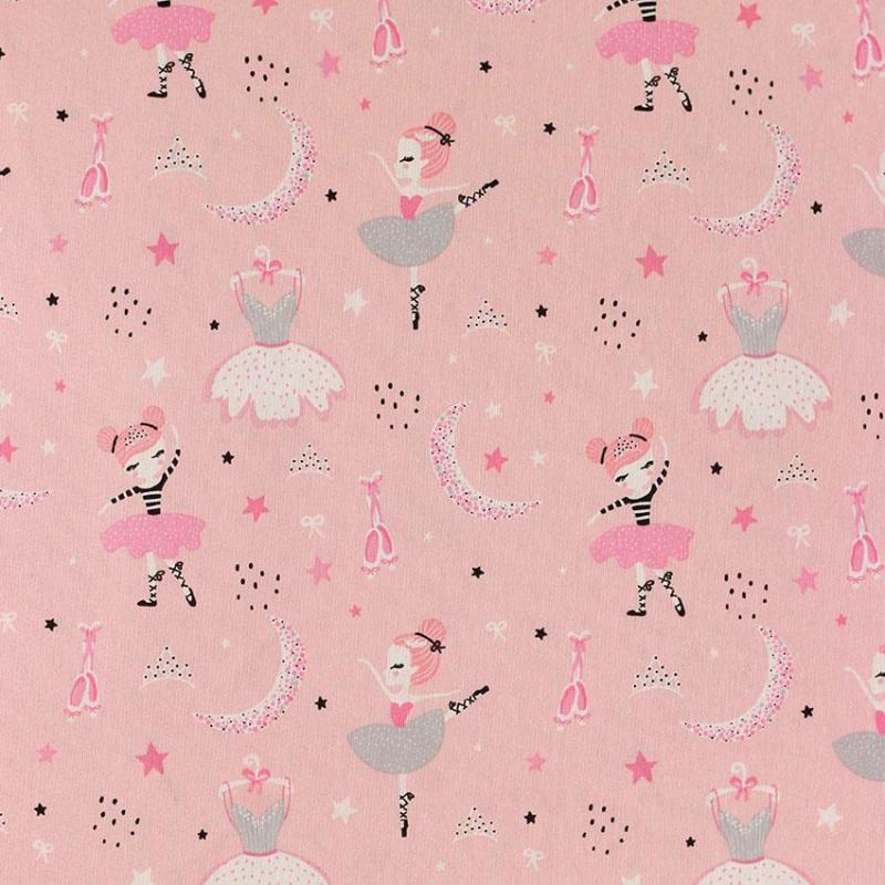 "Toile imprimée motif ""Ballerine"" © Eyrelles Tissus"
