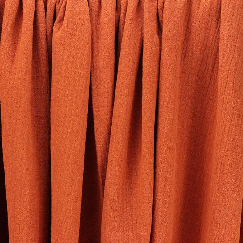 Tissus Double Gaze Ange Brique © Eyrelles Tissus