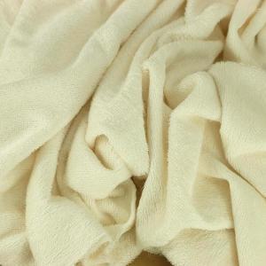 "Tissu éponge bambou Oeko Tex ""Bambou - Crème"" © Eyrelles tissus"