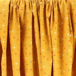 """Tissu coton imprimé """"Pissenlit - Jaune Moutarde"""" © Eyrelles Tissus"""