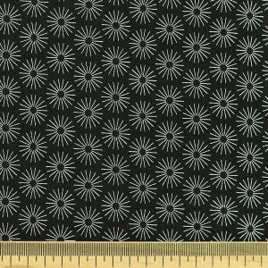 "Tissu coton imprimé ""Soleil Noir"" © Eyrelles Tissus"