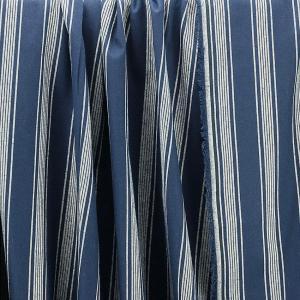 "tissu Toile de coton ""Linéa - Bleu Marine"" © Eyrelles tissus"