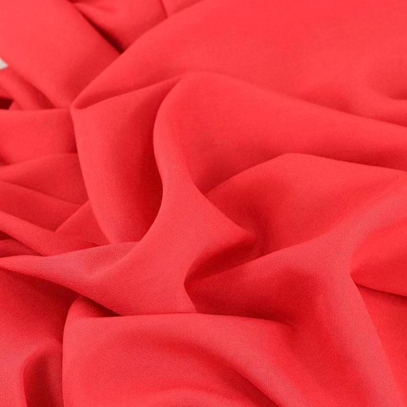 """Tissu viscose uni """"Rose Corail"""" © Eyrelles Tissus"""