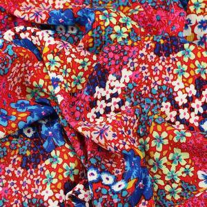 """Tissu crepe viscose """"Bianca - Rouge"""" © Eyrelles Tissus"""