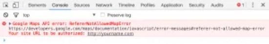Google Chrome üzerinde Konsol açıldığında hata kodu bu şekilde görülür