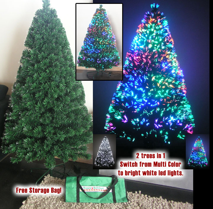 3ft Fiber Optic Artificial Christmas Tree