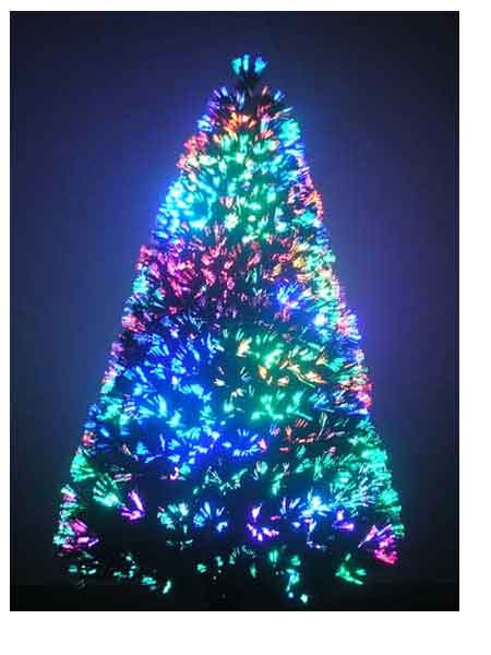 8 ft fiber optic christmas tree