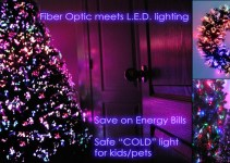 Fiber Optic Christmas Trees Meets LED Lights