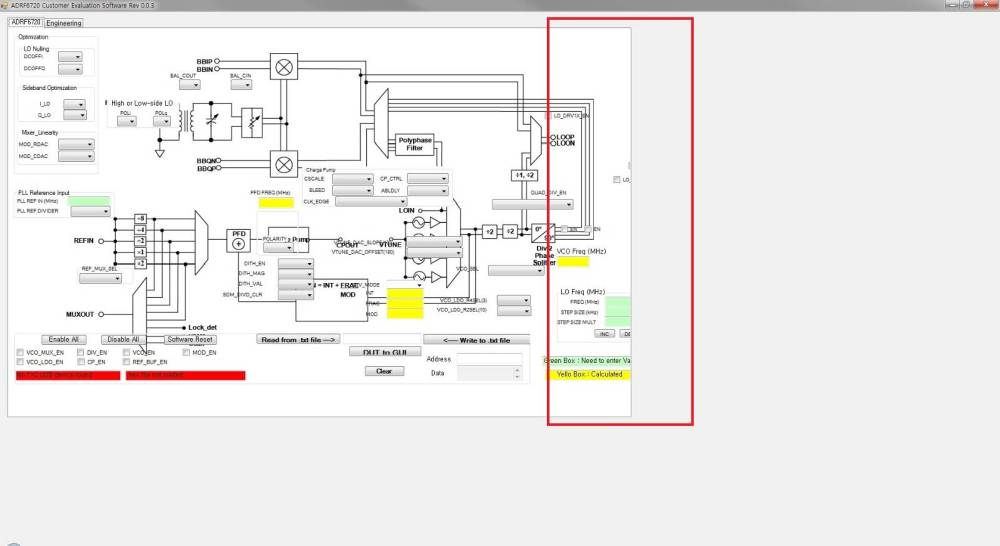 medium resolution of issue at a block diagram display in adrf6720 adrf6820 evaluation software