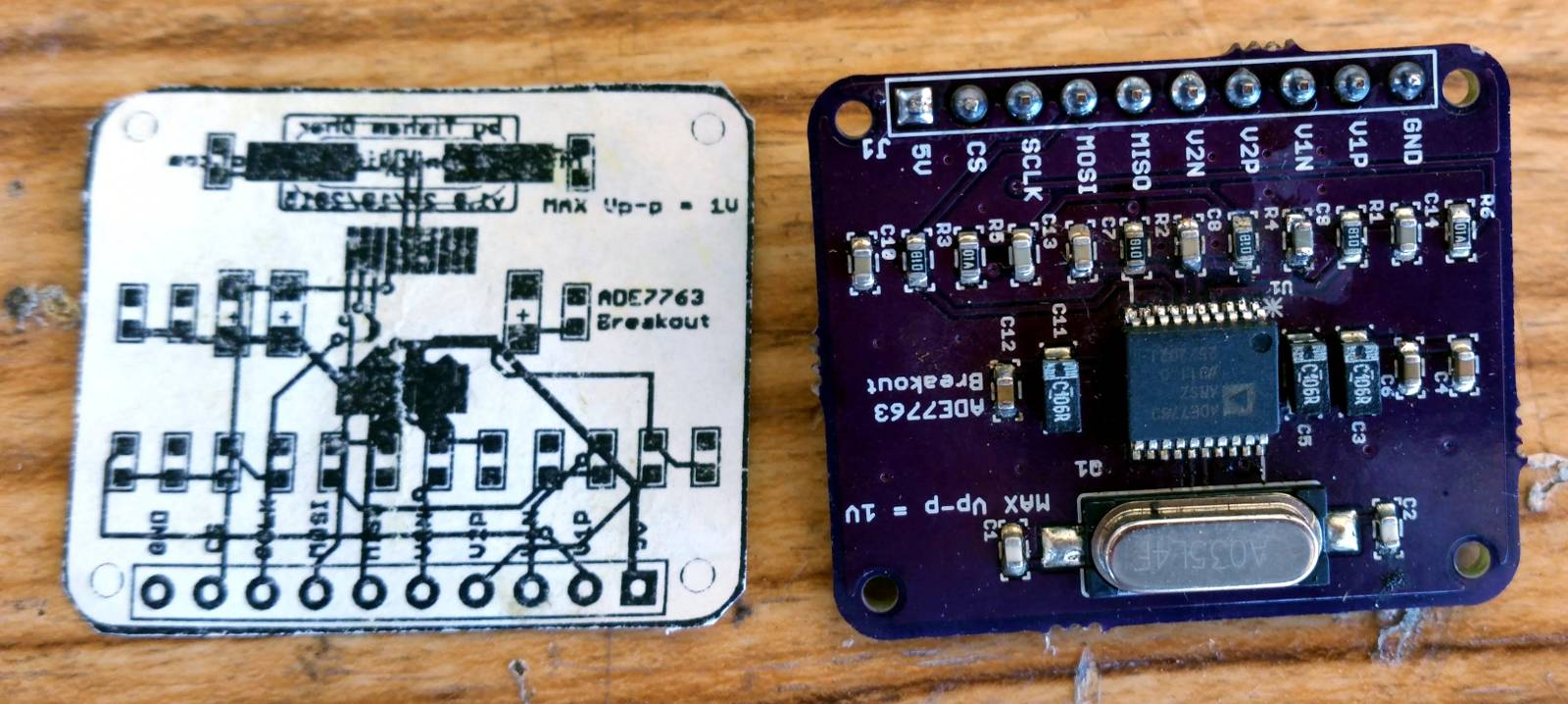 hight resolution of i have created a small ade7763 breakout board to test its functionality using the teensy microcontroller i have 2 working builds of the board