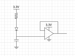 op-amp input current with voltage on input during