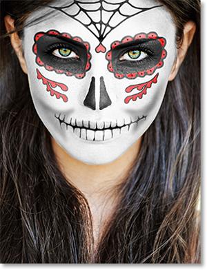 Candy Skull Face Paint : candy, skull, paint, Paint, Sugar, Skull, Photoshop, Halloween