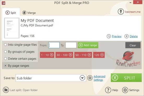 Icecream PDF Split Merge Pro Crack - EZcrack.info