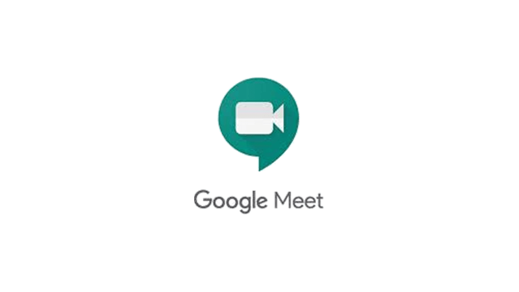 Google meet logo and name in transparent background