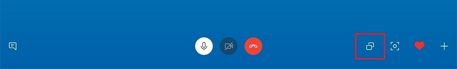 Screen share icon for Skype on desktop platform