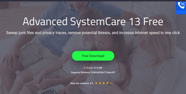 Advanced SystemCare Windows Registry cleaner