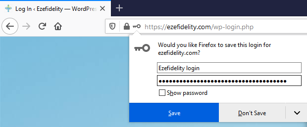 save password request box in firefox