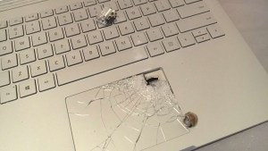 A Microsoft Surface Book Laptop Took a Bullet for Its Owner, Saving His Life