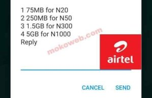 Activate New Airtel 5GB For N1000, 1.5GB For N300, 250MB For N50 Plans