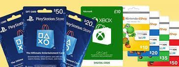 gift cards for gaming