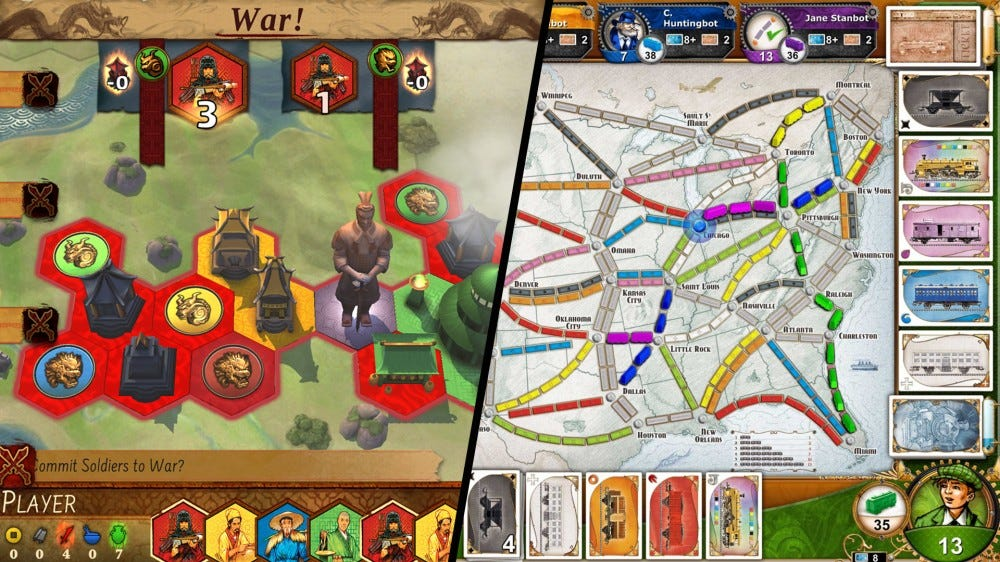 Collage of multiple mobile board games