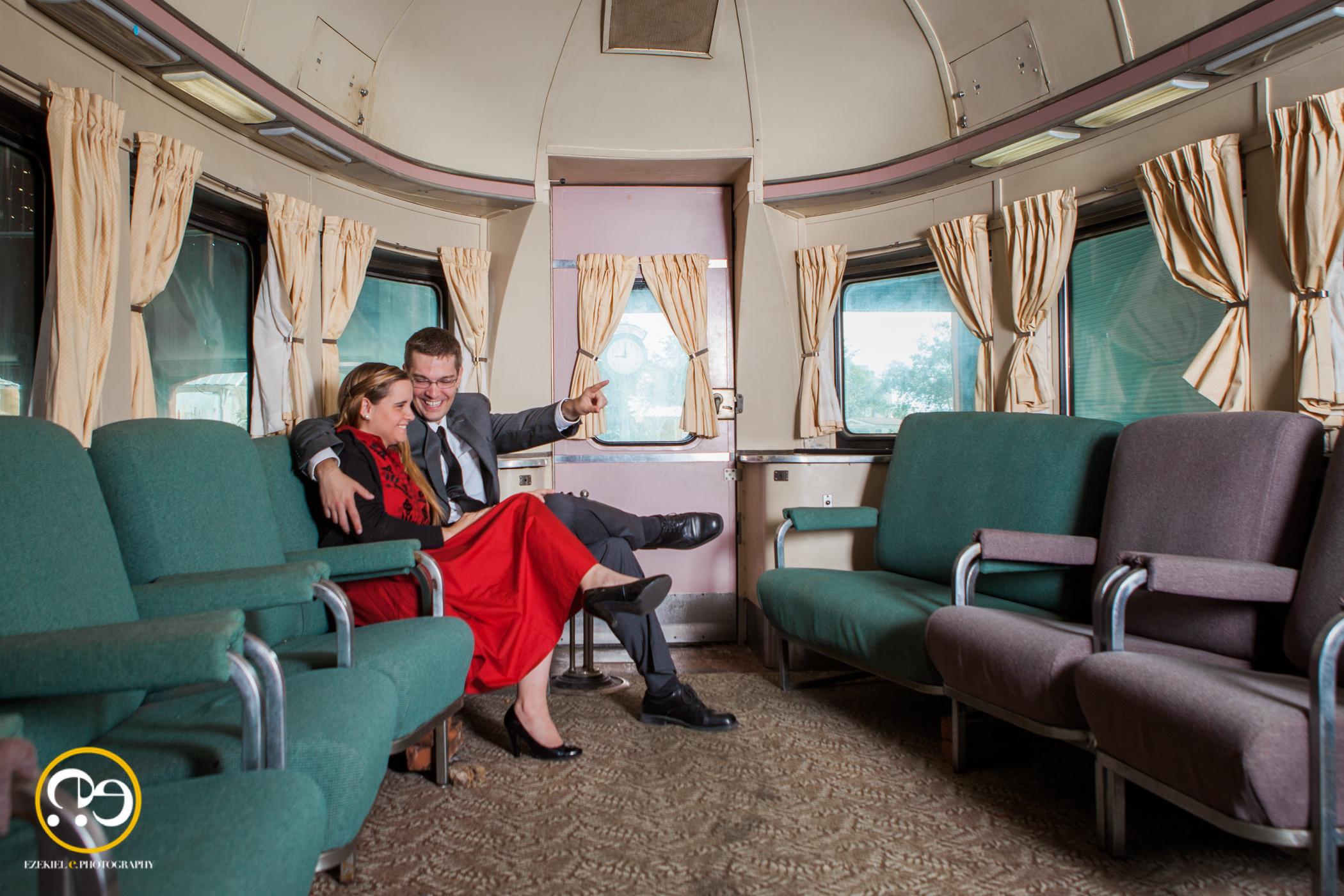 Rachel  John Gold Coast Railroad Museum Engagement Shoot