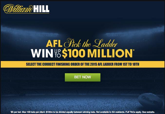 AFL Pick The Ladder selection