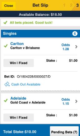 AFL Multibet round 6 2015