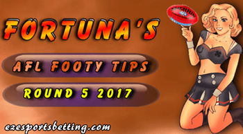 Fortuna AFL round 5 2017 tips