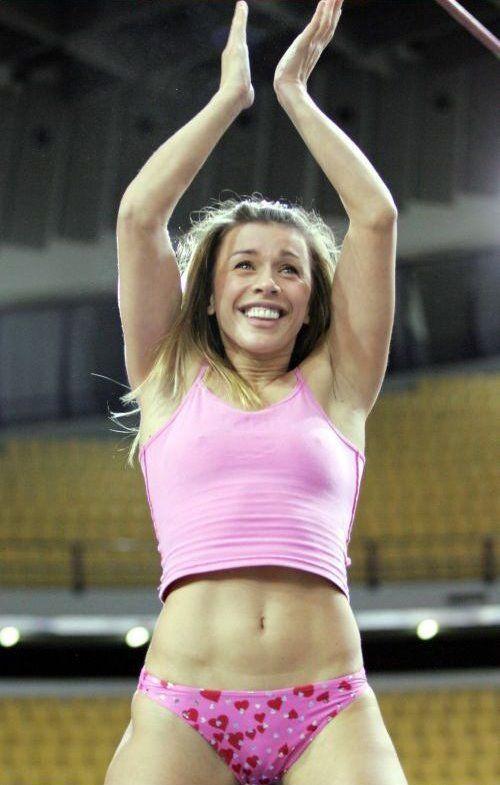hottest female pole vaulters Erika Prezerakou