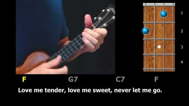 Love Me Tender – Ukulele Strum-Along with Chords and Lyrics – ezFolk.com