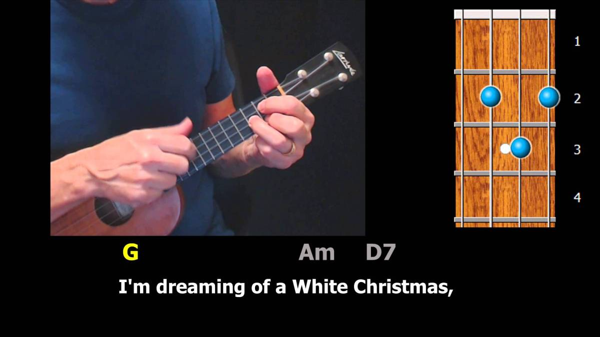 white christmas easy ukulele strum along ezfolkcom - Youtube White Christmas