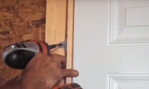 exterior door installtion, step 6