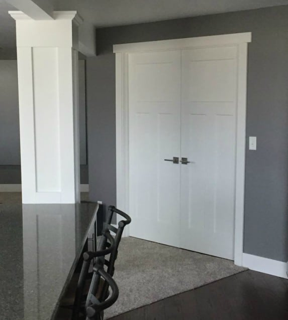 how to install a door without shims