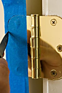 cutting tape for painting interior door