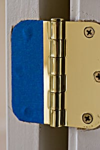 cut tape for painting interior door