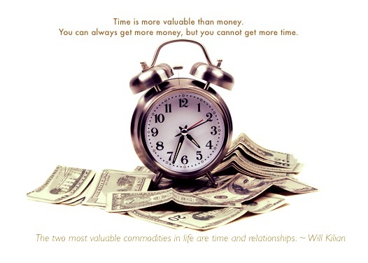 Value time and relationships more than money