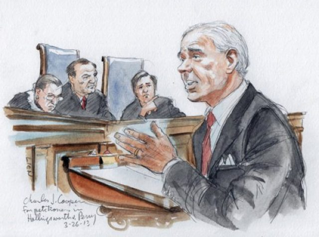 Attorney Charles Cooper argues for supporting California's Proposition 8 in the U.S. Supreme Court in Washington