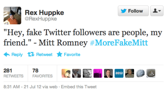 romney fake followers