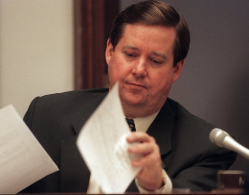 California Republican Ken Calvert was serving his first year in Congress in 1993 when he was busted by police while engaged in sexual conduct with a prostitute. The incident didn't slow down his political career, as Calvert is still serving on Capitol Hill.