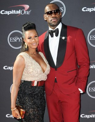 labron james and wife