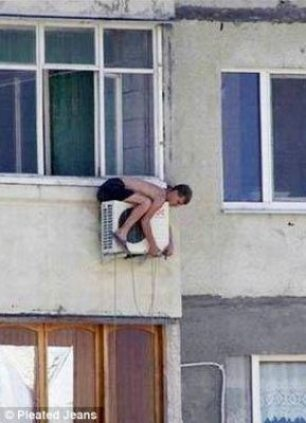 Now this is how you fix an AC. I do this all the time.