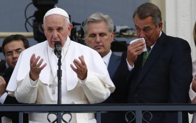 boehner pope cry