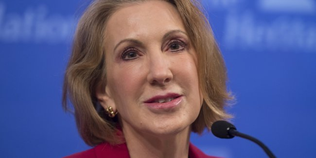 Former Hewlett Packard (HP) CEO Carly Fiorina speaks about the economy during a panel at the Heritage Foundation on December 18, 2014 in Washington, DC. AFP PHOTO / SAUL LOEB        (Photo credit should read SAUL LOEB/AFP/Getty Images)