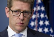 """White House Press Secretary Jay Carney speaks during the daily press briefing in the Brady Press Briefing Room at the White House in Washington, DC, May 14, 2013. Jay Carney said the White House had nothing to do with the operation to comb the AP's phone records -- as part of an apparent case targeting national security leakers.  """"We are not involved in decisions made in connection with criminal investigations, as those matters are handled independently by the Justice Department,"""" said Carney. AFP PHOTO / Saul LOEB        (Photo credit should read SAUL LOEB/AFP/Getty Images)"""