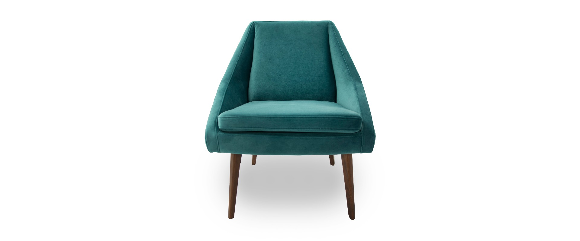 Emerald Green Accent Chair Panama Teal Velvet Angled Accent Chair