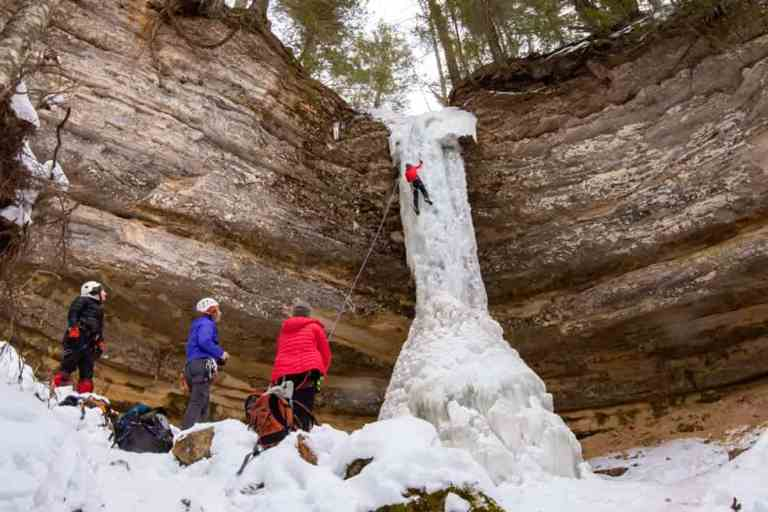 Ice Climbing Michigan Needs to be on your Bucket List Now