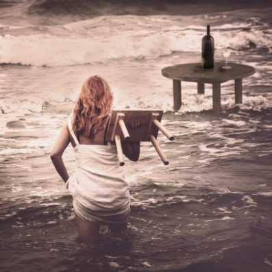 surreal photography ocean ginger hair
